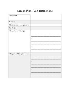 Lesson Plan Self Reflection