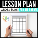 Lesson Plan Sheets - 8-Subject Plan Sheets