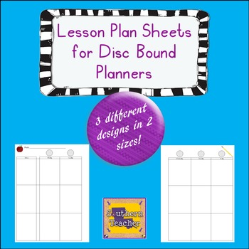 Teacher Planner/Happy Planner - Lesson Plan Sheets