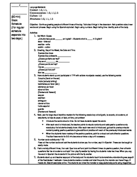 Lesson Plan Spanish 1 First Week of School (Realidades Chapter PE)