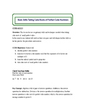 Lesson Plan: Taking Cube Roots of Perfect Cube Numbers