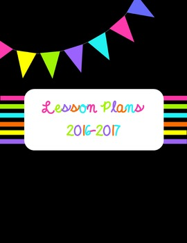 Lesson Plan Teacher Binder - BRIGHT COLORS