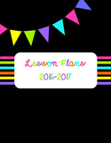 Lesson Plan Teacher Binder - BRIGHT COLORS