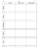 Lesson Plan Template for Pre-K
