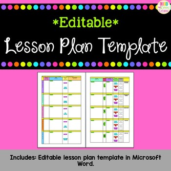 Editable Lesson Plan Templates Word Teaching Resources Teachers