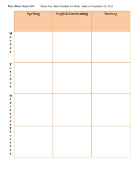 Lesson Plan Template 2 page block