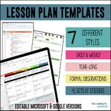 Lesson Plans Templates Bundle [DISTANCE LEARNING]