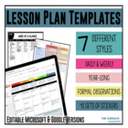 Lesson Plan Templates {Google Digital Resource}