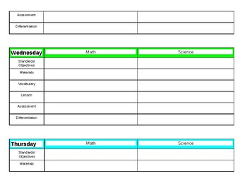 Lesson Plan Template- 2 subject