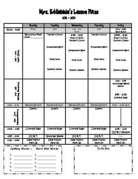 Lesson Plan Template: 2012-2013
