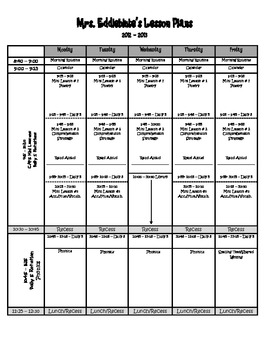 Lesson Plan Template: 2012-2013