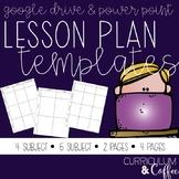Lesson Plan Template | EDITABLE | Google Slides | PowerPoi