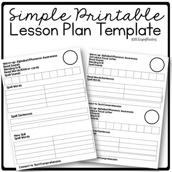 Lesson Plan Template By 180 Days Of Reading