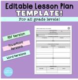 Editable Lesson Plan Template