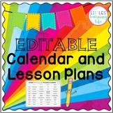 Preschool Themed Calendar and Lesson Plan Template