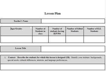 Lesson Plan Template By JACOB INGRAM