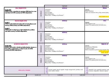 Lesson Plan Template ASD Classroom