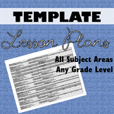 Lesson Plan Template All Subject Areas