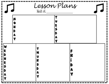Lesson Plan Template - Band