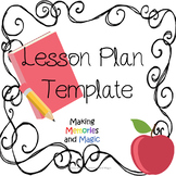 Lesson Plan Template & Binder Cover - Editable (Pink and Blue)