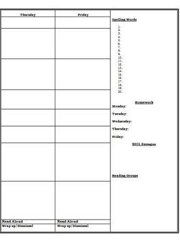 Lesson Plan Template (Blank)