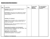 Lesson Plan Template - Block Scheduling