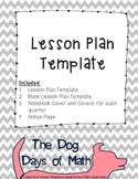 Weekly Lesson Plan Template - Chevron