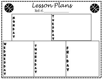 Lesson Plan Template - Basketball