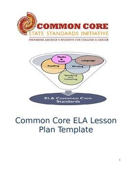 Lesson Plan Template: Common Core for ELA