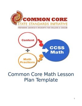 Lesson Plan Template - Common Core for Math