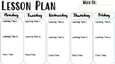 Lesson Plan Template, Completely Customizable