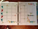 Lesson Plan Template Cute Owl Themed Colorful and fun