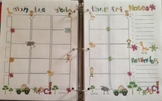 Lesson Plan Template Cute Safari Themed Colorful and fun for Binder
