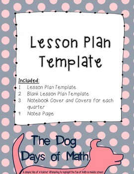 Weekly Lesson Plan Template - Dots