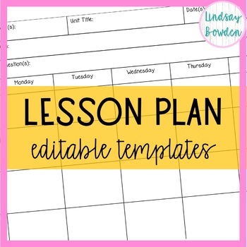 Lesson Plan Template-EDITABLE!!!