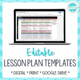 Lesson Plan Template | EDITABLE - Google Drive