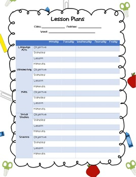 Lesson Plan Template: Easy to edit!