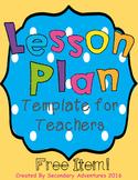 Lesson Plan Template {Editable}