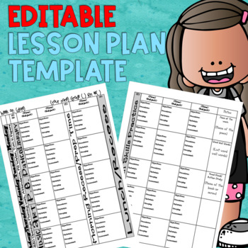 Lesson Plan Template {Editable}