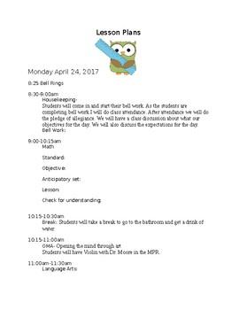 Lesson Plan Template (Editable)