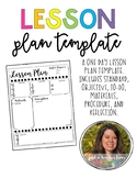 Lesson Plan Template [Editable]