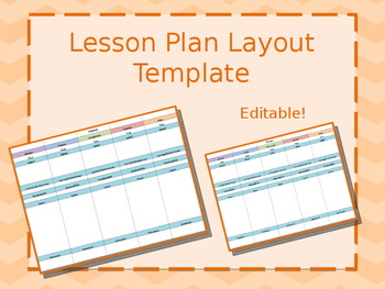 Lesson Plan Template * Editable
