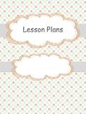 Lesson Plan Template Editable Free