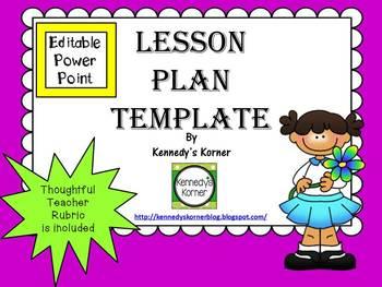 Lesson Plan Template ~ Editable version ~