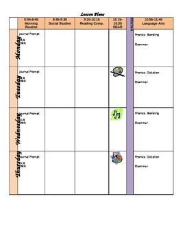 Lesson Plan Template--Elementary
