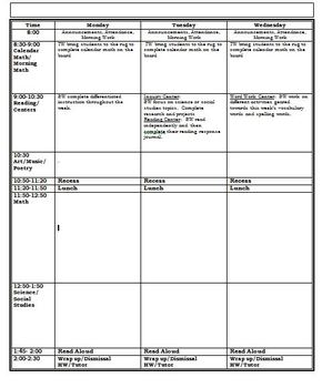 Lesson Plan Template--Entire Week View