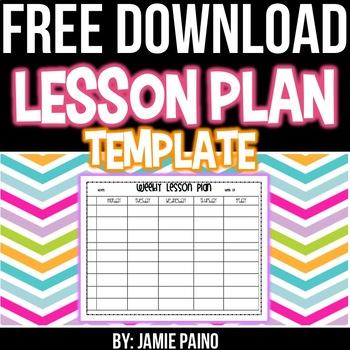 Lesson Plan Template- FREEBIE