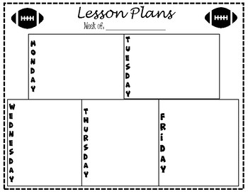 Lesson Plan Template - Football