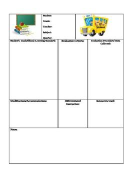 lesson plan template for individual studentsjennifer