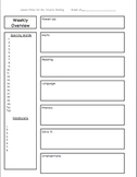 Lesson Plan Template For The Week